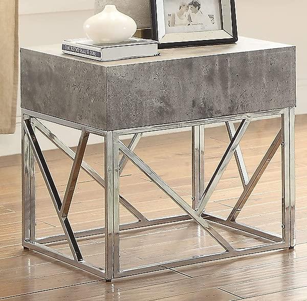 ACME Furniture Burgo End Table Gray Silver