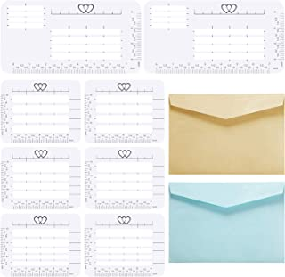 10 Pieces Envelope Addressing Guide Stencil Templates for Envelopes, Sewing with 2 Colors Thank You Cards