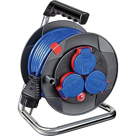 Brennenstuhl Garant Kompakt Ip44 Kabeltrommel 15m Kabel In Blau Spezialkunststoff Kurzfristiger Einsatz Im Außenbereich Made In Germany Baumarkt