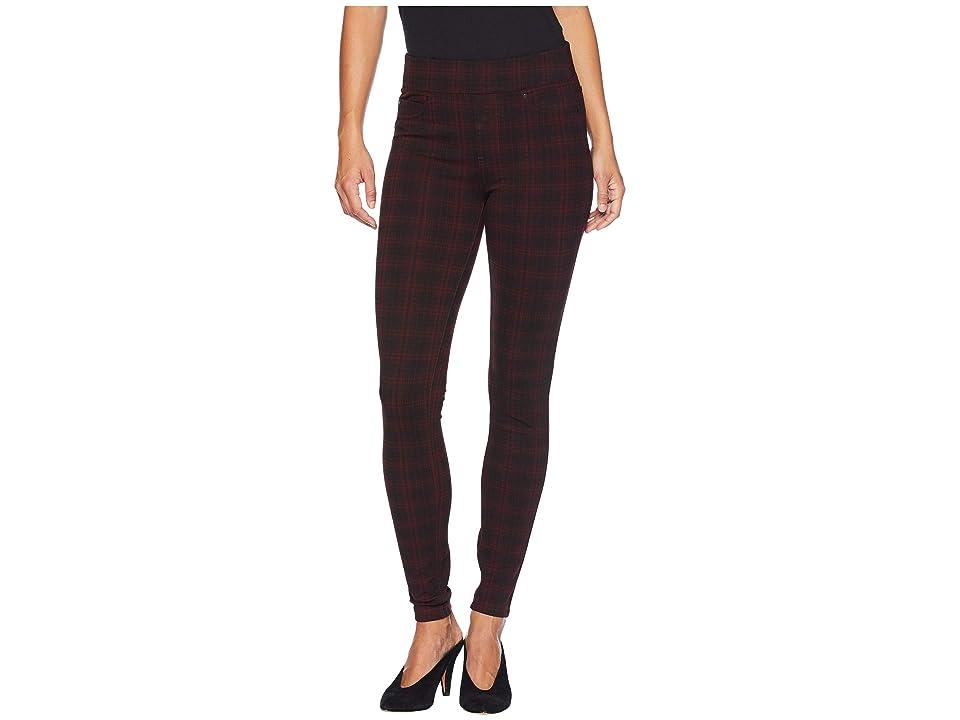 Liverpool Sienna Pull-On Leggings in Super Stretch Ponte Knit (Rosette Plaid) Women