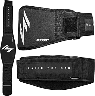 JerkFit RTB Premium Weightlifting Belt-Olympic Lifting Comfortable Full Back Support-for Deadlifts, Back Squats, Thrusters-Lightweight Flexible Belt for Men &Women