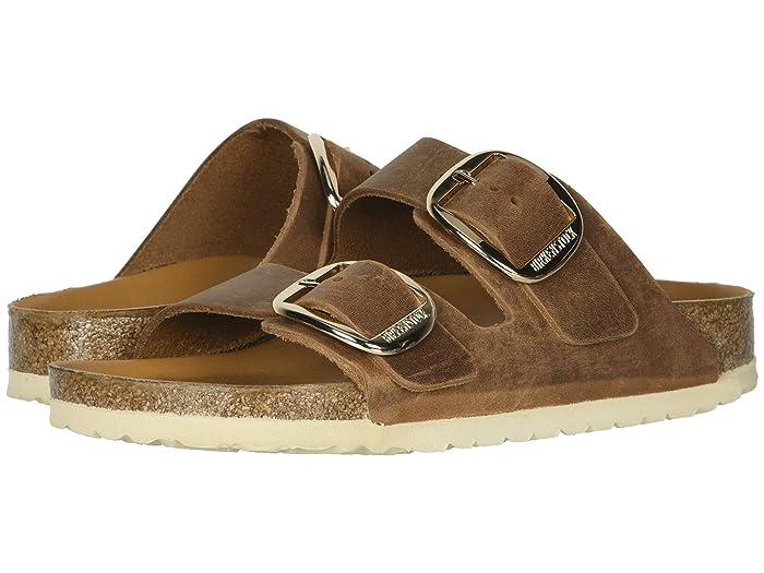 Vintage Sandal History: Retro 1920s to 1970s Sandals Birkenstock Arizona Big Buckle Antique Cognac Leather Womens  Shoes $149.95 AT vintagedancer.com