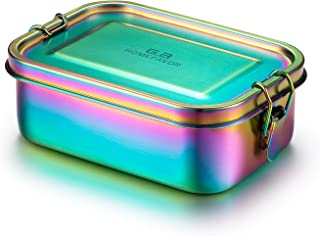 G.a HOMEFAVOR 800ml Stainless Steel Rainbow Lunch Box Bento Box - Metal Food Containers for Kids Adults - Eco-Friendly Insulated Snack Storage - Leakproof & Dishwasher Safe