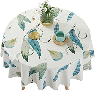Bettery Vinyl Round Table Cover Wipe Clean PVC Tablecloth Oil-Proof/Waterproof/Stain-Resistant,Round - 52 Inch