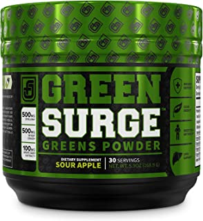Green Surge Green Superfood Powder Supplement - Keto Friendly Greens Drink w/Spirulina, Wheat & Barley Grass, Organic Gree...