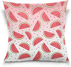 "MASSIKOA Fruit Watermelon Decorative Throw Pillow Case Square Cushion Cover 16"" x 16"" for Couch, Bed, Sofa or Patio - Only..."