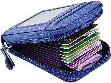 1 funda de piel suave para tarjetas de cr/édito cartera de bolsillo para tarjetas de visita.