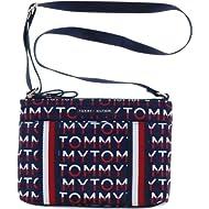 Tommy Hilfiger 2 Zipper Crossbody Purse in Navy Print