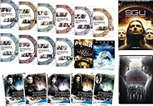 Stargate SG-1 Complete Series + The Ark of Truth + Continuum / Stargate Atlantis Seasons 1-5 / SGU Stargate Universe Complete Series (DVD 19-Set Pack)