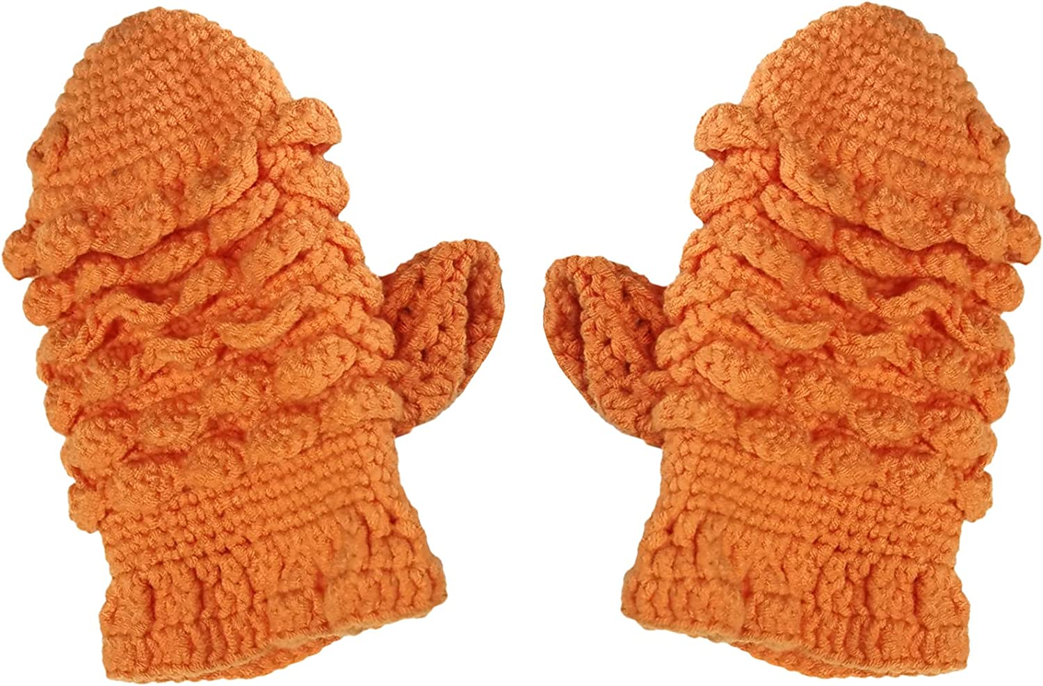 BIBITIME Handmade Knitted Fish Gloves Unisex Adult Winter Cold Weather Warm