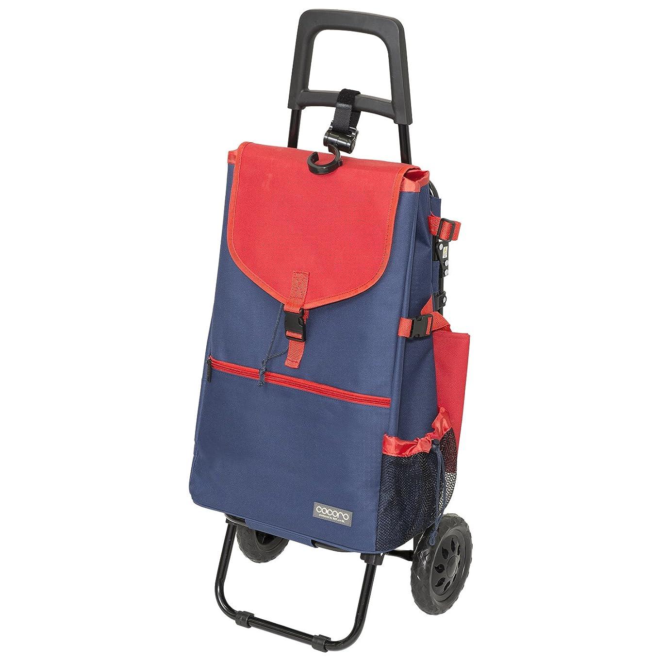 顔料繰り返したバックアップレップ(REP) ショッピングカート ネイビー 容量40L 保冷 買い物 バッグ らくらく COCORO(コ?コロ) 438930