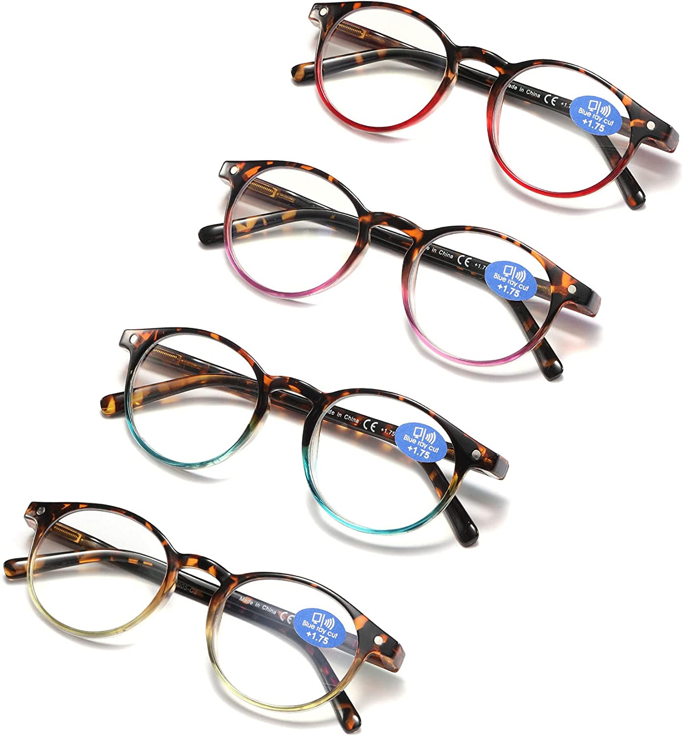 Reading Glasses for Women   Blue Light Blocking Ladies Spring Hinge Readers  with Pouches Anti Eyestrain/Glare Women's Computer Eyeglasses 20 Pairs Mix  ...