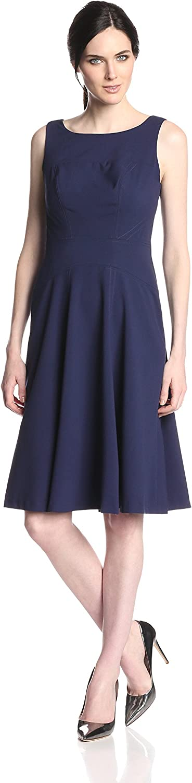 Marc New York by Andrew Marc Women's Sleeveless Seamed Swing Dress