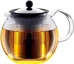 BODUM ASSAM Tea Press, Permanent Filter, Glass Handle, Shiny, 1L