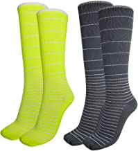 PU Lifestyle Unisex Therapy Padded Support-Zone Moisture Wicking Low Compression Socks, Green/Gray, 20 Count