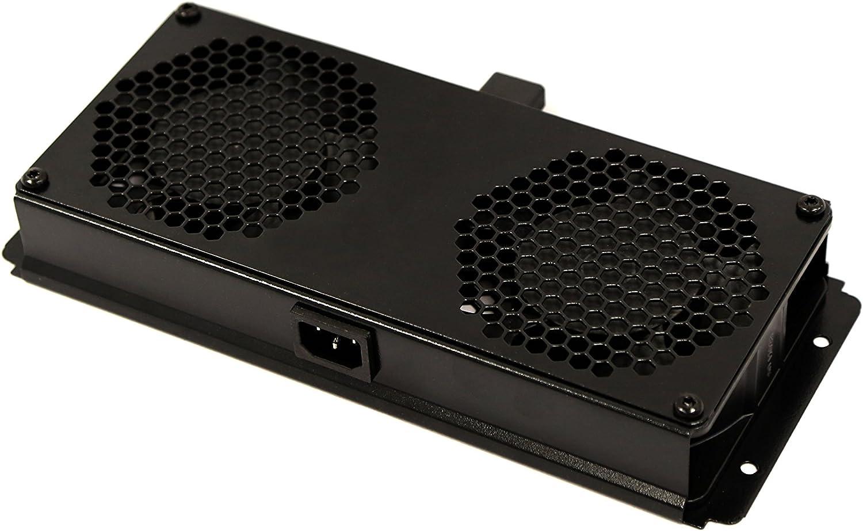 NetMax Depot Rack Cabinet Mounted Server Fan Cooling System 2 Fans Unit 110V Blk 1U