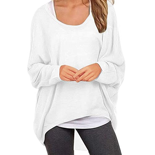 3c83bbab3c UGET Women s Sweater Casual Oversized Baggy Off-Shoulder Shirts Batwing Sleeve  Pullover Shirts Tops