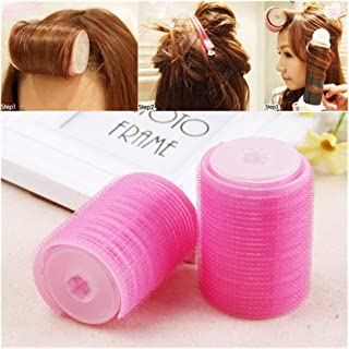 Lovef Women Bangs Hair Styling Tools Salon Curlers Hot Cling Rollers Curlers Hair Rollers Double 2Pcs