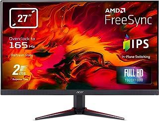 Acer Nitro VG270Sbmiipx 27-inch FHD Gaming Monitor - (IPS Panel, FreeSync, 165Hz (OC), 1ms, ZeroFrame, DP, HDMI, Black),UM...