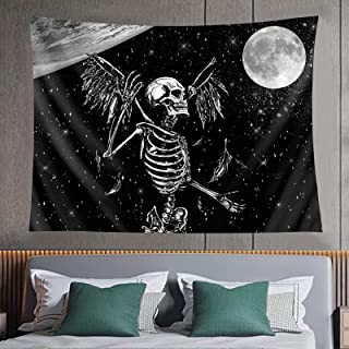 Halloween funny skull Halloween Tapestry Wall Hanging Decor,Skeleton Tapestry,Ghost Tree Bats Pumpkin Tapestry for Living ...