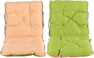 Meerweh Juego de 2 Cojines para Respaldo y sillón, Aprox. 50 x 98 x 8 cm, Color Verde/Beige, 50 x 98 x 10 cm