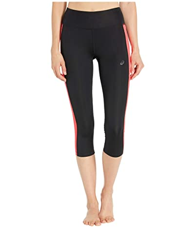 ASICS Capri Tights (Performance Black/Laser Pink) Women