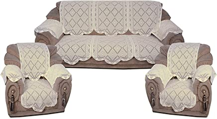 Yellow Weaves™ 5 Seater Sofa and Chair Cover Set with 6 Arm Covers (Pack of 12 Pcs)