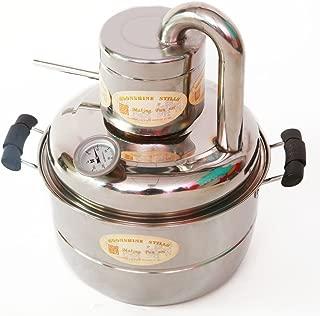 2 GaL 10L Alcohol Distiller Home Brewing Kit Moonshine Still Wine Spirits Boiler With Free Pump