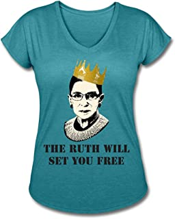 Notorious RBG The Ruth Will Set You Free Women's Tri-Blend V-Neck T-Shirt