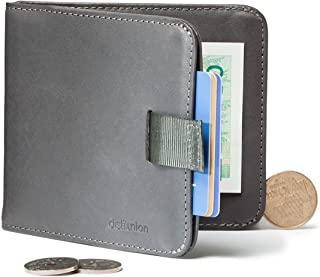 Distil Union - Wally Euro, Slim Leather Wallet with Coin Pouch and Money Clip