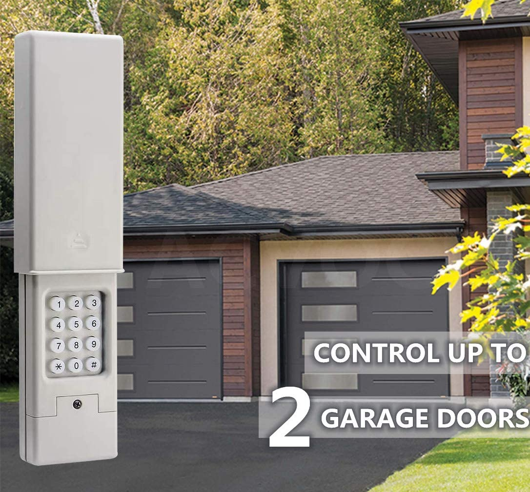 Keyless Entry High Compatibility 2-Channel Garage Door Keypad for ...