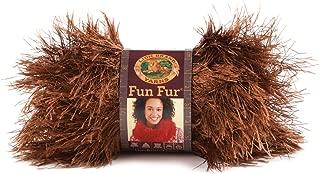 Lion Brand Yarn 320-126 Fun Fur Yarn, Chocolate