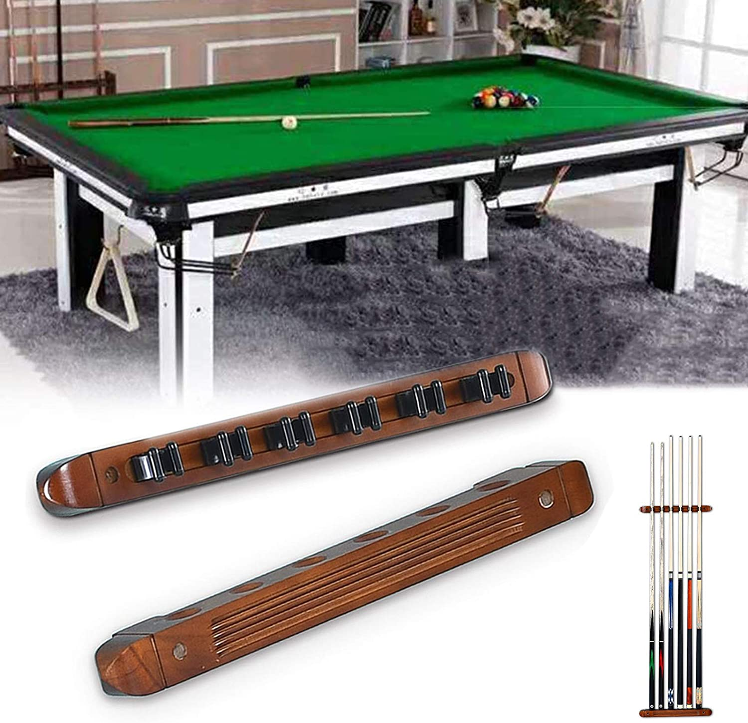 LMDX Wooden Billiard Stick Stand - Snooker Cue 70% OFF Outlet Minneapolis Mall Pool Rack Wall