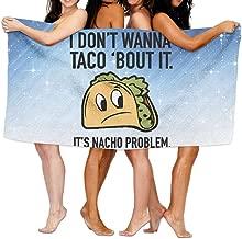 Shenigon Bath Towel, I DON'T WANNA TACO BOUT IT Thick Large Swim Beach Towels