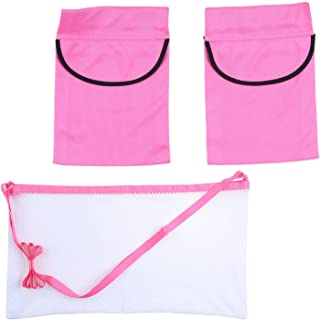 Adjustable Mastectomy Drain Holder Drainage Pouch with Shower Bag for Breast Surgery Mastectomy Breast Reduction Augmentation Post-Surgery Recovery Support Patient Care Kit (Light Pink)