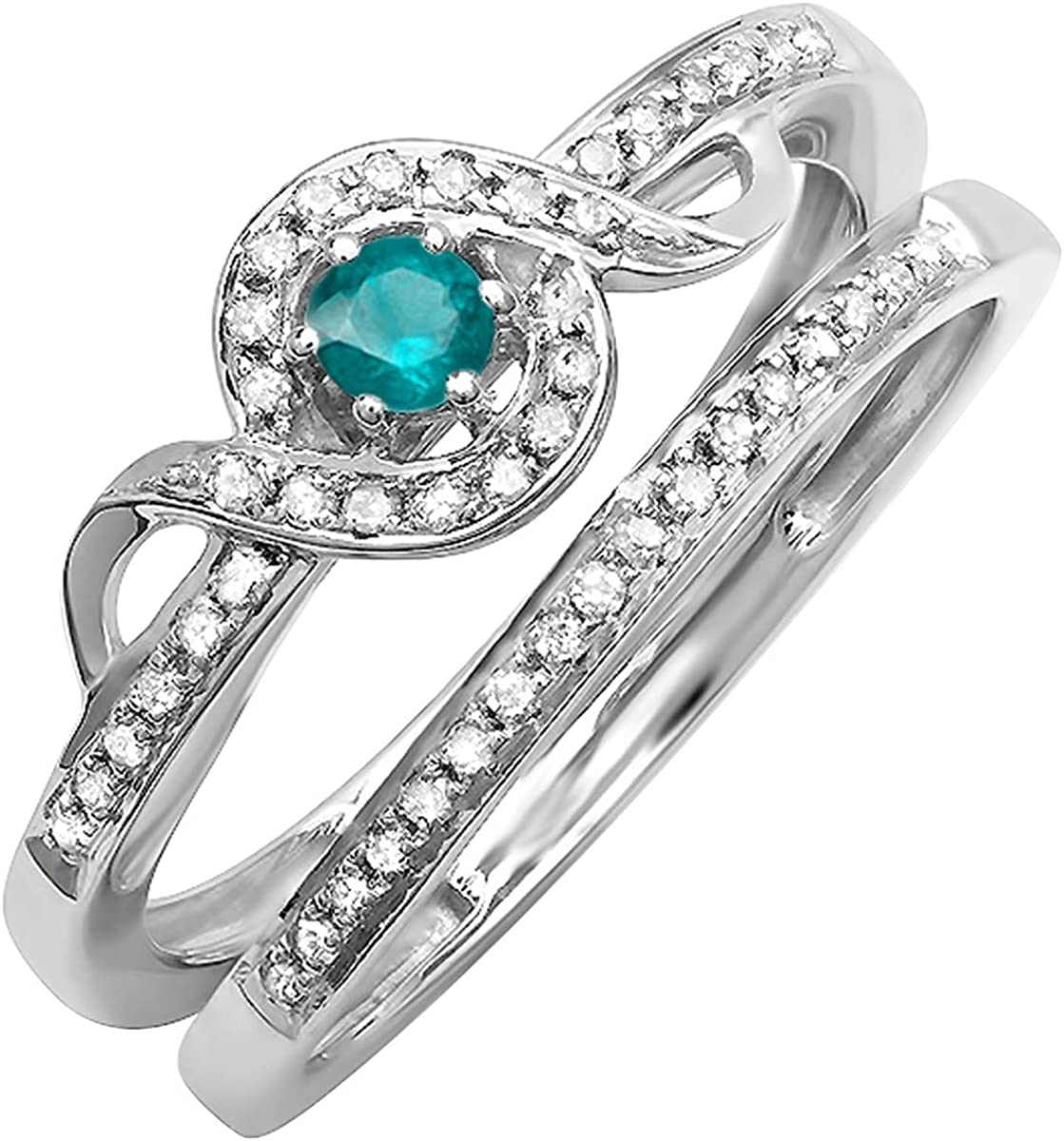 Dazzlingrock Collection 0.25 Carat ctw Round Diam Blue 67% OFF of fixed price Cheap super special price White