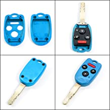 STAUBER Best Key Shell Replacement for Honda Accord, Ridgeline, Civic, and CR-V - KR55WK49308, N5F-A05TAA, N5F-S0084A - NO Locksmith Required Using Your Old Key and chip! - Blue