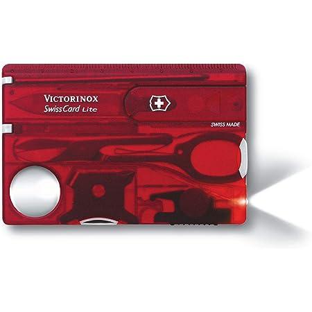 Victorinox Swisscard Lite, color Rojo Transparente, Led Blanco