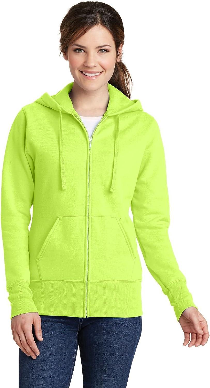Port & Company Ladies Core Fleece Full-Zip Hooded Sweatshirt. LPC78ZH