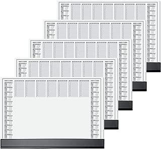 Sigel 59.5 x 41 cm 80 GSM Paper Desk Pad with Black Protective Strip (Pack of 5)