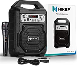 HIKEP Portable Bluetooth Karaoke Machine, Wireless PA Speaker System Voice Amplifier with..