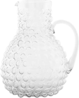 Creative Co-op Large Clear Hobnail Glass Pitcher, 80 Ounce
