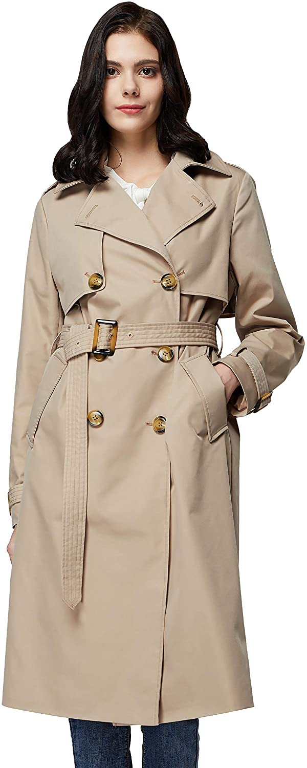 Orolay Women's 3 Max 68% OFF 4 Japan's largest assortment Length Double Lapel Trench Coat Jack Breasted