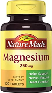 Nature Made Magnesium 250 mg Tablets 100 ea (Pack of 5)