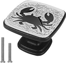 Kasten Hardware Handvatten Zwarte Krab Meubelknoppen Witte Lade Handvatten Vierkante Trekt Decor Kwekerij Kamer Kinderkame...