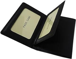 [革匠谷中] 3面 パスケース 二つ折り 免許証ケース牛革レザー IDケース 中ベラ付き 定期入れ650