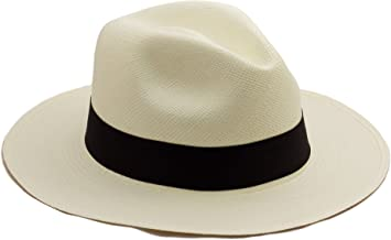 Tumia - Fedora Panama Hat - White or Natural - Lightweight Rollable Version.
