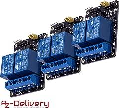 AZDelivery 3 x rele Modulo de 2 Canales 5V con optoacoplador Low-Level-Trigger para Arduino con Ebook Incluido