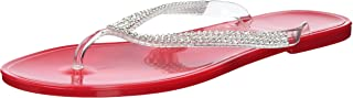 Nufoot Strawberry Flip Flops with Rhinestones, Large, 2 Count
