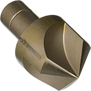 1//2 Shank Diameter Uncoated Round Shank KEO 53101 High-Speed Steel Single-End Countersink Single Flute 110 Degree Point Angle Finish Bright 1 Body Diameter